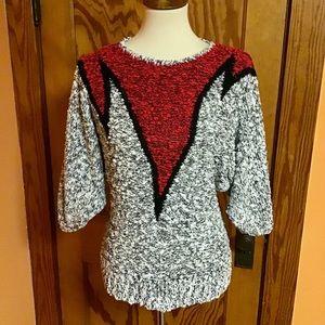 Vintage 80s soft op art unique sweater